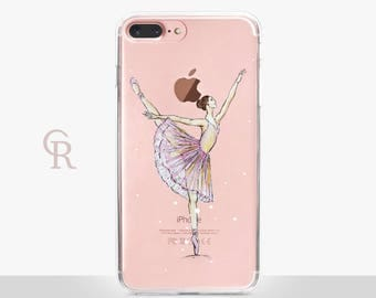 Ballet iPhone 6 Clear Case - Clear Case - For iPhone 8 - iPhone X - iPhone 7 Plus - iPhone 6 - iPhone 6S - iPhone SE Transparent - Samsung