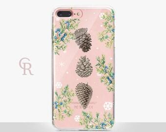 Christmas iPhone 7 Plus Clear Case -- Clear Case - For iPhone 8 - iPhone X - iPhone 7 Plus - iPhone 6 - iPhone 6S - iPhone SE Transparent