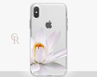 Floral iPhone 8 Clear Case For iPhone 8 iPhone 8 Plus - iPhone X - iPhone 7 Plus - iPhone 6 - iPhone 6S - iPhone SE - Samsung S8 - iPhone 5