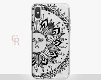 Sun iPhone X Clear Case For iPhone 8 iPhone 8 Plus - iPhone X - iPhone 7 Plus - iPhone 6 - iPhone 6S - iPhone SE - Samsung S8 - iPhone 5