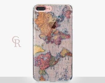 Wanderlust iPhone 7 Plus Case - Clear Case - For iPhone 8 - iPhone X - iPhone 7 Plus - iPhone 6 - iPhone 6S - iPhone SE Transparent Travel