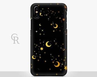 Moon iPhone 8 Plus Case For iPhone 8 iPhone 8 Plus - iPhone X - iPhone 7 Plus - iPhone 6 - iPhone 6S - iPhone SE - Samsung S8 Stars Sky