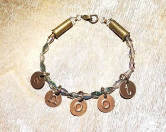 SHOOT .22 Caliber Bullet Bracelet