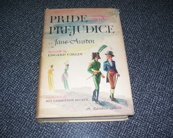 Pride and Prejudice by Jane Austen  Illustrated by Edgard Cirlin HC/DJ 1946 Vintage