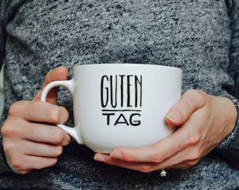 Guten Tag Mug // unique coffee mugs german germany travel gift for fathers day Allemagne Deutschland