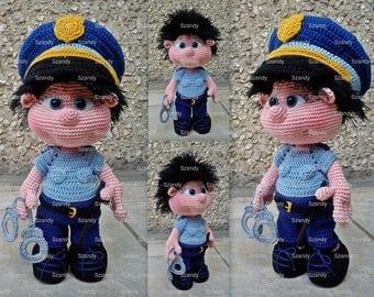 Police Elf Boy PATTERN crochet amigurumi