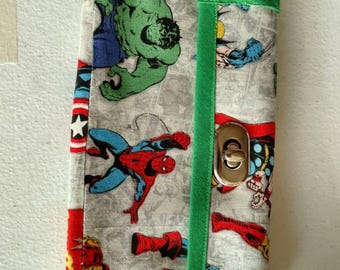 Avengers women's wallet in green or blue
