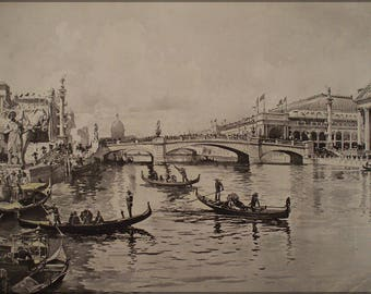 Poster, Many Sizes Available; Chicago River As Canal Of Venice During 1893 World'S Fair