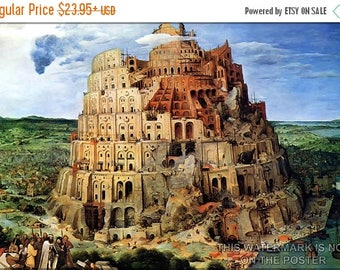 40% OFF SALE Poster, Many Sizes Available; Tower Of Babel Pieter Bruegel The Elder 1563