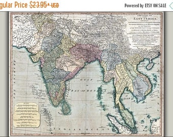 20% Off Sale - Poster, Many Sizes Available; Map Of Southeast Asia 1794 India Vietnam Thailand