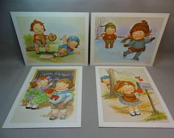 Campbell's Soup Kids Vintage Prints Four Available