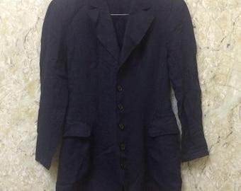 Birthday Sale Vintage Yohji Yamamoto Dress, Blazer, Shirt, Casual, Japanese Top Designer, Size M Rare