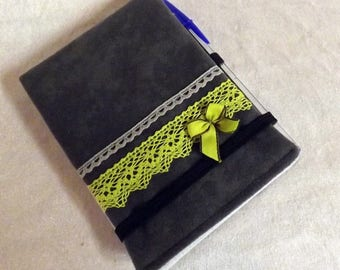 """A6 notebook cover """"Handy"""" gray lace"""