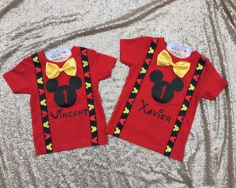 Fast Shipping - Mickey mouse birthday outfit, Mickey Mouse Birthday shirt, Mickey Mouse Birthday onesie