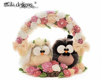 arch of roses - crochet pattern by mala designs ®