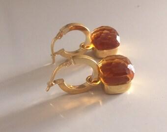 18k gold-plated silver earrings