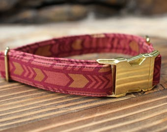 Arrows Collar | Fall Dog Collar | Female Dog Collar | Fabric Dog Collar | Pet Collar | Large Dog Collar | Girl Dog Collar | Small Dog Collar