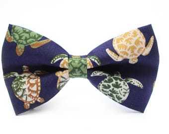 Sea Turtle Bow Tie | Bow Tie for Men | For Him | Bowtie | Self Tie | Dog Bow Tie | Mens Bow Tie | Boys Bow Tie | Wedding Bow Men | Groomsmen