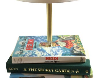 Bedside Lamp, Book Lover Gift, Table Lamp, Unique Lamp, Book Lamp,