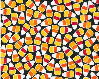 Candy Corn in Black by Anne Kelle for Robert Kaufman