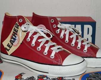 converse all star vintage rare glove leather deadstock og made in USA 8.5 nwb