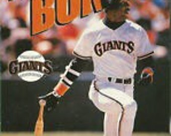 Vintage Barry Bonds San Francisco Giants Poster 18x24 mlb baseball new in plastic rare 90s