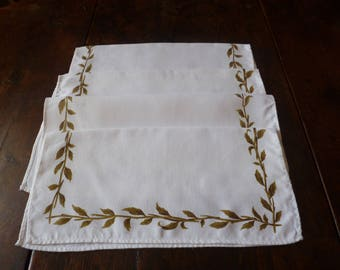 Four Retro Irish Linen Napkins