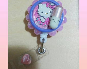 Retractable badge holder- Pharmacy tech- psych Tech- ready to ship