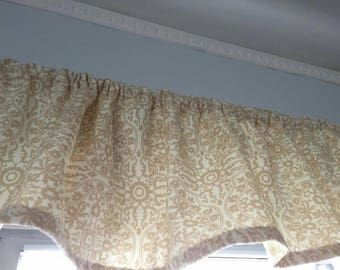 Valance, Window valance, Kitchen Valance, Linen window Valance,  Beige valance, Kitchen Curtains, Cafe Curtains.