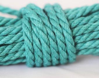 Teal Hemp Bondage Rope Shibari Rope