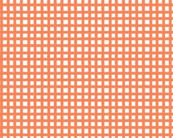 Quilting Treasures - Happy Cats - Loralie - 24422-O - Checks - Orange