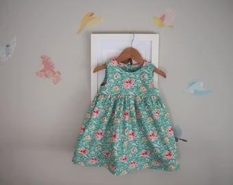 Girls Dress Size 2 and 3 - Geranium Dress / Tilda Floral Dress Summer Dress Size 2T and 3T