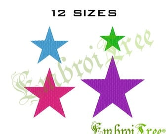 Star Embroidery Design - Star Machine Embroidery Download - Star Pes File