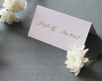 Tented Calligraphy Place Card