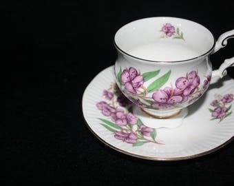Eizabethan Tea Cup and Saucer
