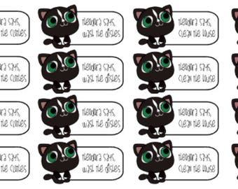 Theodora Says Chores   Chore Stickers   Planner Stickers   Matte   Glossy