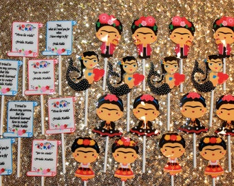 Frida Kahlo Cup Cake Toppers (12 pieces)