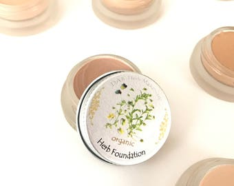 NEW! Organic Herb Foundation, Plumps, Hydrates, Heals, Food Grade and Certified Organic Ingredients, Vegan