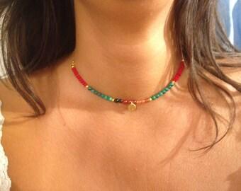 Silver and rose quartz necklace