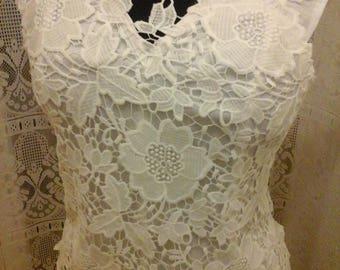 Pretty taffeta dupion and lace corset Top crochet