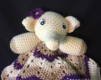 Esme Elephant baby lovey snuggie cuddle blanket blanky