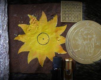 Solar Pentacle (Sol Sigil) plus accessories for Solar Workings.