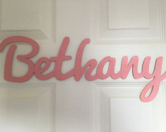Pink Cut Out Wooden Name Sign (PRICE PER LETTER)