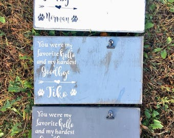 Pet Photo Holder, You were my favorite hello and my hardest goodbye, pet memorial photo holder