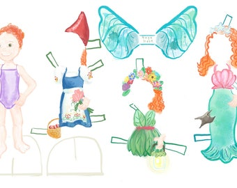 Magic! Customizable Fairy Tale paper doll that looks like you