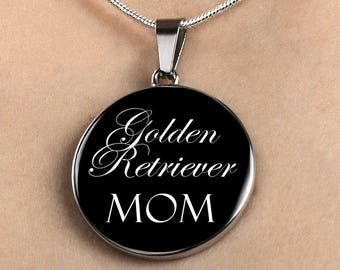 Golden Retriever Mom - Luxury Necklace