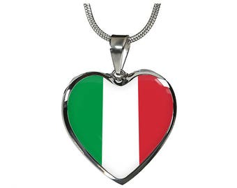 Italian Pride - Heart Pendant Luxury Necklace