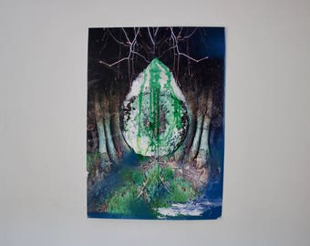 Psychedelic nature poster