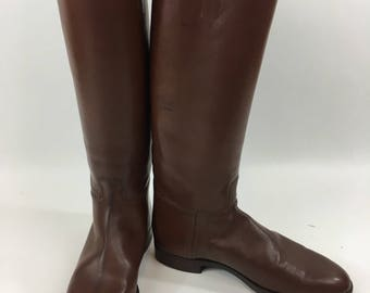 Manfield & Sons Equestrian Riding Boots Vintage English Riding Made in England Leather Heel Taps