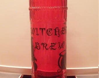 Witches Brew decorative halloween bottle